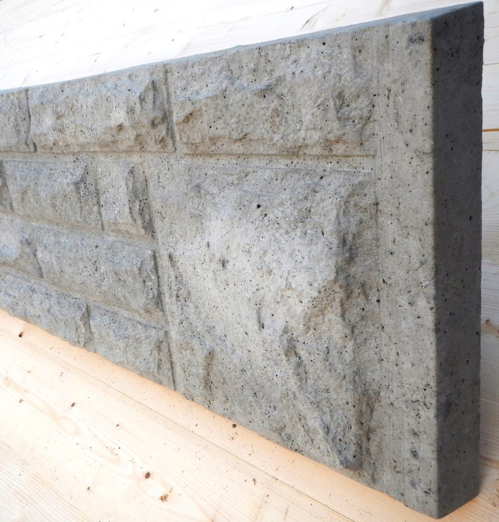 300mm rock faced gravel board