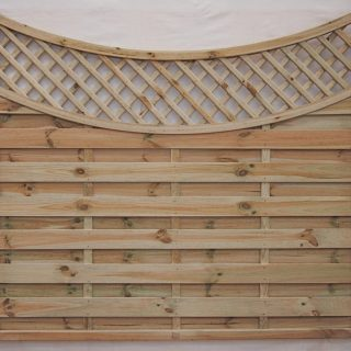 concave lattice panel
